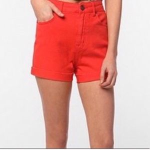 🌵 BDG UO orange high rise distressed shorts